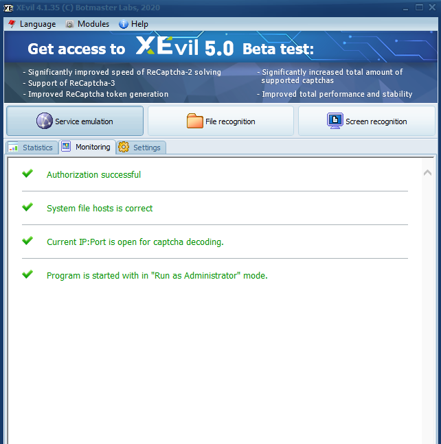 CBT Email Extractor Captcha Settings Xevil configuration